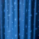 Blue curtain background royalty free stock images