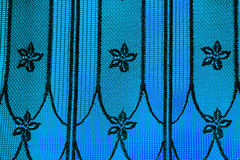 Blue curtain background Royalty Free Stock Image