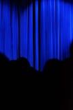Blue curtain Stock Photos