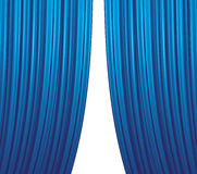 Blue Curtain Closing Royalty Free Stock Photography