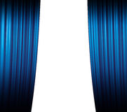Blue Curtain Closing Stock Image