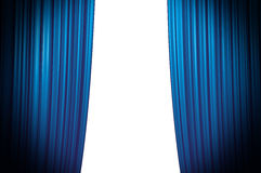 Blue Curtain Closing stock images