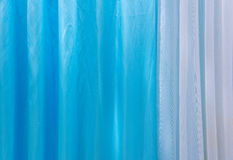Blue curtain fabric texture for background Stock Photography