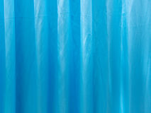 Blue curtain fabric texture for background Stock Photos