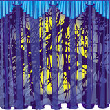 Blue curtain, heavy curtain Royalty Free Stock Images