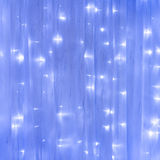 Blue curtain with lights Royalty Free Stock Image
