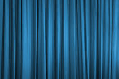Blue curtain Stock Photo