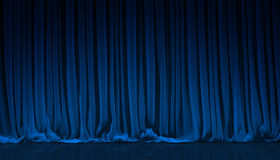 Blue curtain in theater. Royalty Free Stock Photography