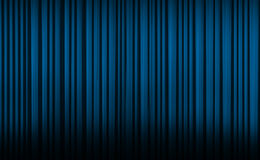 Blue curtain in theater. Royalty Free Stock Image