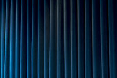 Blue Curtain for Theater Themes and Backgrounds Royalty Free Stock Images