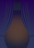 Blue Curtain Theatre reopening. Royalty Free Stock Photo