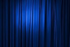 Blue curtain, vector Stock Photography