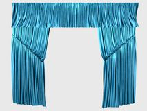 Blue curtains Royalty Free Stock Photos