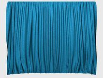 Blue curtains royalty free stock image