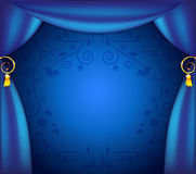 Blue curtains Royalty Free Stock Images