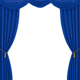 Blue curtains background Royalty Free Stock Photo