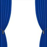 Blue curtains background Stock Photos