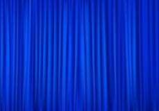 Blue curtains stock vector. Illustration of front, background