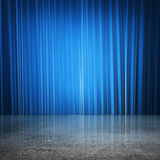 Blue curtains Stock Images