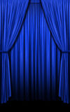 Blue Curtains in vertical format Stock Images