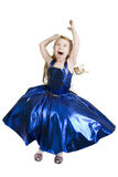 Blue curtsy Princess. Royalty Free Stock Photo