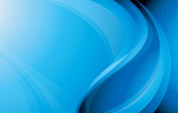 Blue Curve Background Stock Images