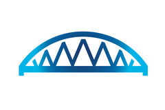 Blue Curved Bridge Logo Stock Images