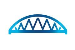 Blue Curved Bridge Logo Stock Images