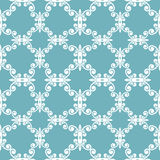 Blue curves seamless pattern Stock Image