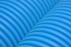 Blue curvilinear tubes Royalty Free Stock Images