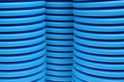 Blue curvilinear tubes Stock Photography