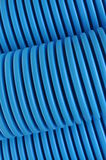 Blue curvilinear tubes Stock Images