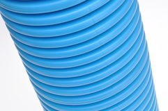 Blue curvilinear tubes Royalty Free Stock Photo