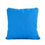 Blue cushion  on white background Royalty Free Stock Image