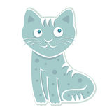 Blue cute cat vector Stock Photography