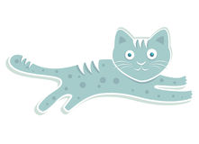 Blue cute cat vector Stock Images