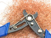 Blue cutting plyer Stock Image