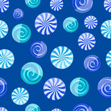 Blue cyan striped candy seamless pattern Royalty Free Stock Image