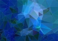 Blue Cyan triangle polygonal background Stock Photo