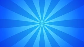 Blue and cyan water sunburst or starburst background slowly rotating background template