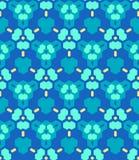 Blue cyan yellow abstract geometric seamless pattern. Vector blue cyan yellow color abstract triangle urban futuristic seamless pattern vector illustration