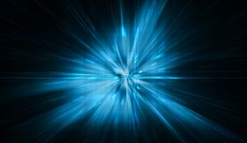 Free Blue Cyber Abstract Star Burst Light Explosion Background Royalty Free Stock Image - 181682786