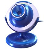 Blue Cyber Camera Royalty Free Stock Image