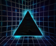 Blue Cyber Punk Background Stock Images