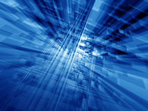 Blue cyberspace Stock Photos