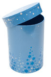 Blue cylindrical small box Stock Images