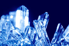 Blue cyrstals royalty free stock photography
