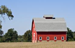 blue czerwone niebo stodole Obrazy Royalty Free