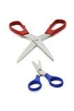 blue czerwonym nożyczki obrazy royalty free
