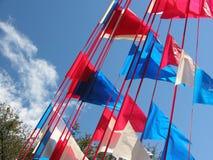 blue czerwonym white zdjęcie stock